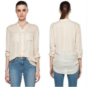 EQUIPMENT | Bailey Pinpoint Dot Blouse Beige XS